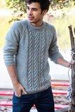 Breipakket voor Josh trui (LMV) in jeans blauw_