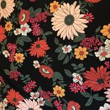 Bloemen stof rokje Moo kleur zwart_