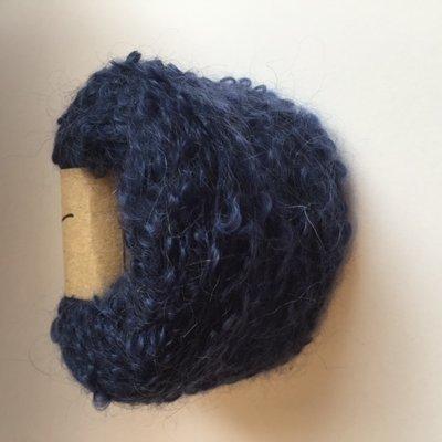 Adèles bouclé navy blue