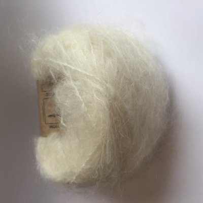 Adèles brushed mohair naturel