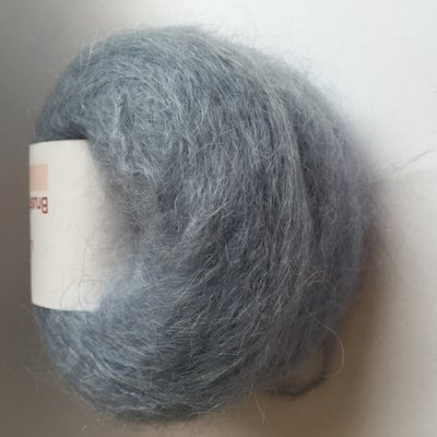 Adèles brushed mohair light denim