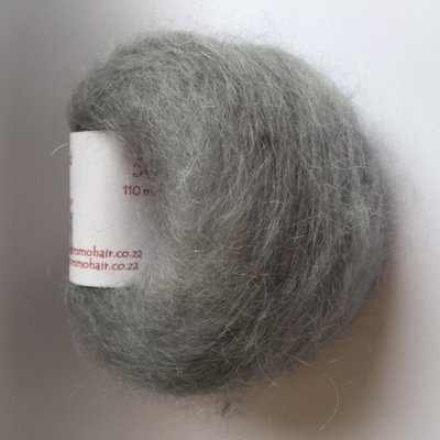 Adèles brushed mohair light grey