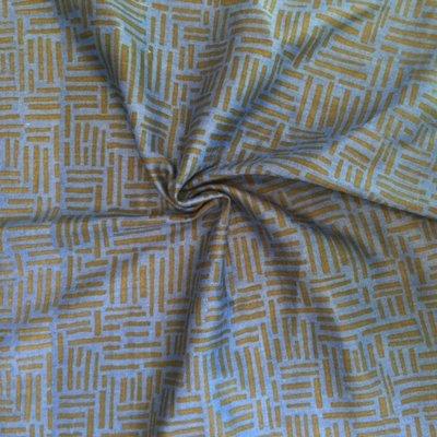 echino double gauze lijntjes blauw - Double gauze