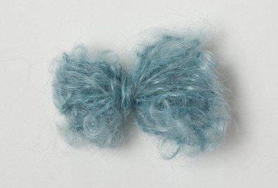 Adèles brushed mohair lapis
