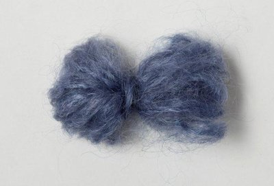 Adèles brushed mohair dark denim