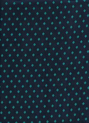 CS soepelvallende zijdekatoen ruit petrol turquoise