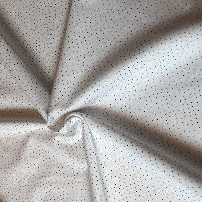 dot white dark blue - katoen