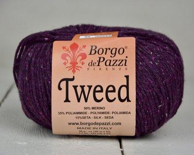 Borgo de pazzi Tweed aubergine 98