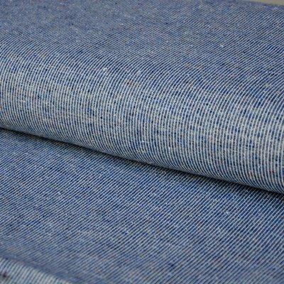 colourful threads on dark blue - jacquard