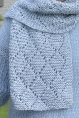 Breipakket voor sjaal in amore en kid annell