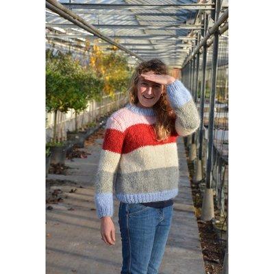 Breipakket voor trui in Iris en Malmedy maat XS en S