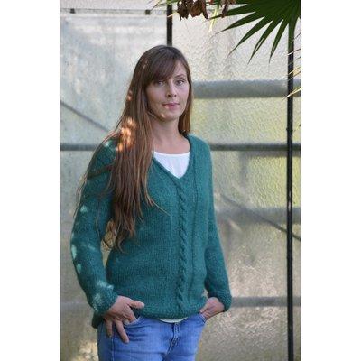 Breipakket voor trui met kabel maat XS en S