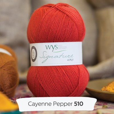 signature 4 ply 510 cayenne pepper