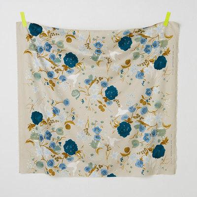 fuccra rakuen blue- cotton satin