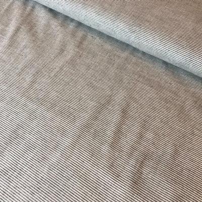 blauw/wit dunne streepjes - katoen