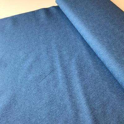 blauw met relief- katoen coupon 1m20