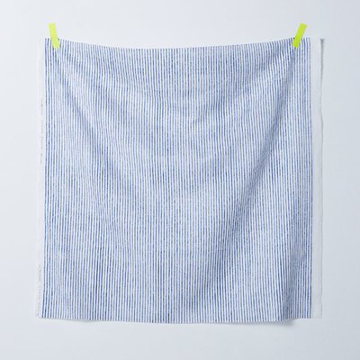 camino blue on white - double gauze
