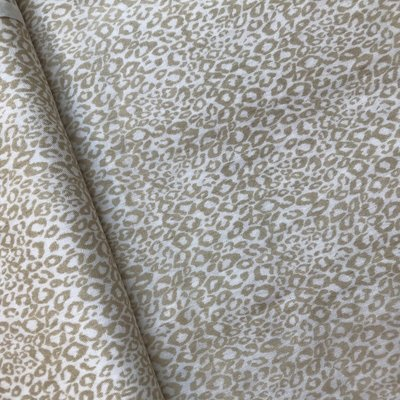 luipaard beige -double gauze
