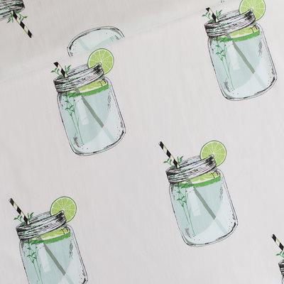iced tea light grey  - cotton lawn