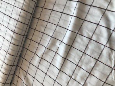 dunne katoen met ruit in glitter - katoen