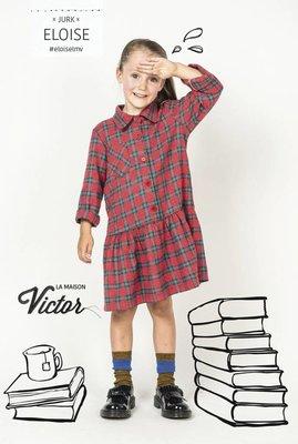 Eloise jurk - la maison victor - katoen polyester mengeling