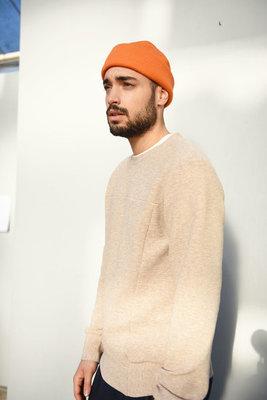 Calvi Neopreen beige - sweater met relief