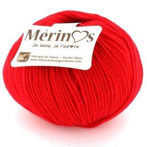 Mérinos Rouge/coquelicot