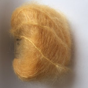 Adèles brushed mohair buttercup