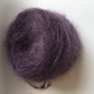 Adèles brushed mohair amethyst