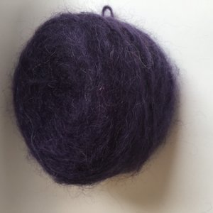 Adèles brushed mohair indigo dark purple
