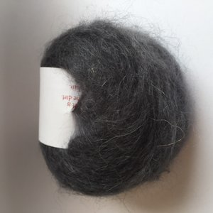 Adèles brushed mohair charcoal