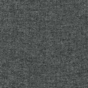 Essex yarn dyed metallic black - katoen