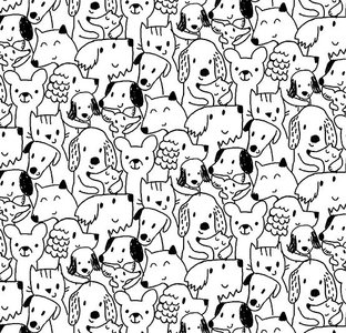 hondjes wit-zwart