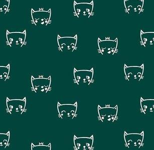 poesjes groen - tricotstof