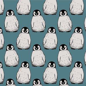 pinguins petrol - tricotstof