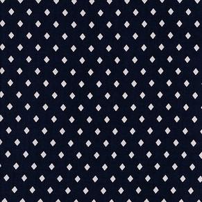 ruit marine blauw - soepelvallende katoen