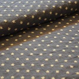 dunne katoen met geborduurde bloempjes jeans blauw - katoen mengeling