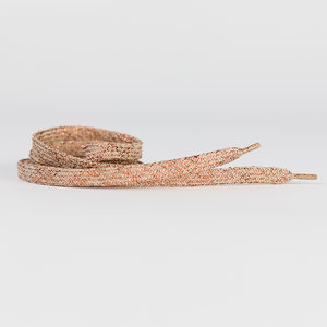 shoelaces grayed pink with copper