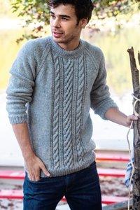 Breipakket voor Josh trui (LMV) in jeans blauw