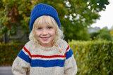 breipatroontje, trui met gekleurde strepen_