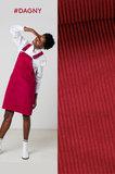 anna skirt (paars/roos) -brede ribfluweel_