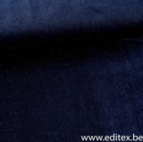 Carolle blauw met glitter - rekbare velours_