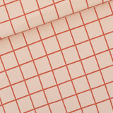 French Terry Grid - eveningpink_