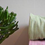 olijfgroen striped denim_