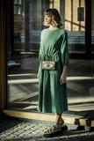 double gauze gras groen voor de marion jurk - double gauze katoen_