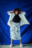 Monet voor bloom rok en danna jurk wit - viscose_
