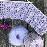 Breipatroon Lavender sjaal_
