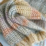 Breipatroon Rainbow sjaal_