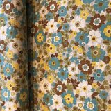 flower turquoise - cotton_