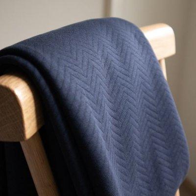 organic chevron quilt dark navy - sweater coupon 150 cm